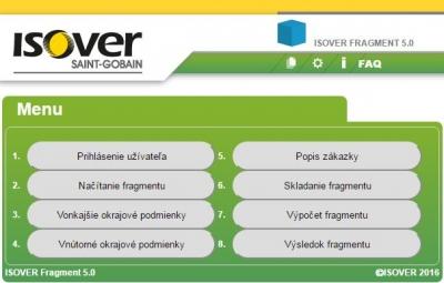 Isover Fragment výpočtový program