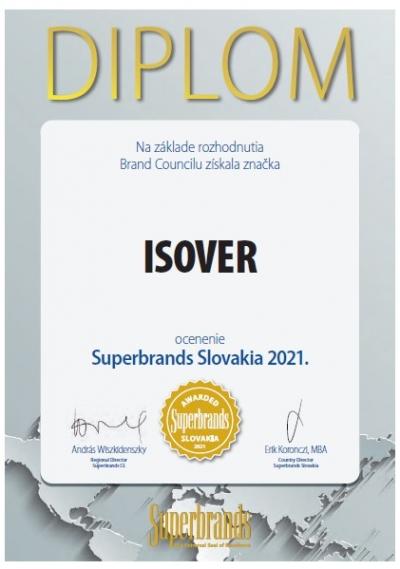 Certifikat Superbrands 2021