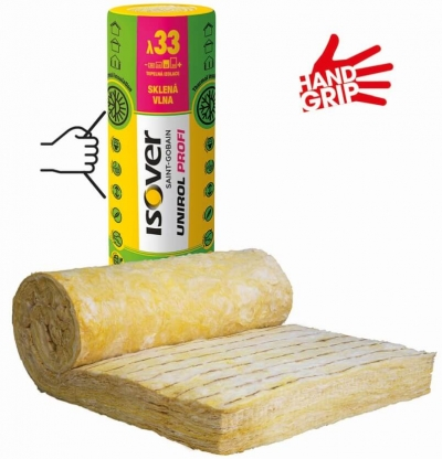 Izolacia vhodna na zateplenie drevodomu UNIROL PROFI s handgripom