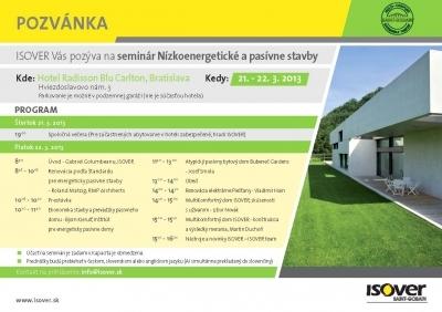 Odborny seminar pre architektov a projektantov ISOVER