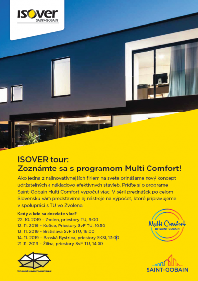 ISOVER pozvánka Multi-Comfort program