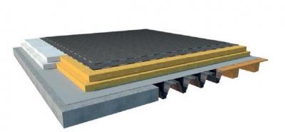 Jednoplastová plochá strecha s klasickým poradím vrstiev