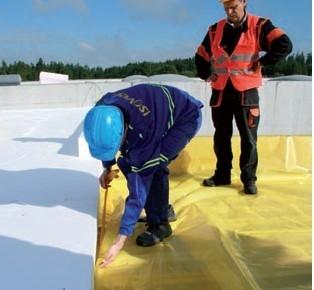Postup vytvorenia ľahkej požiarne odolnej plochej strechy 06