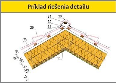 Príklad riešenia detailu strechy Economy