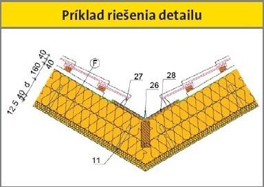 Príklad riešenia detailu strechy Profi
