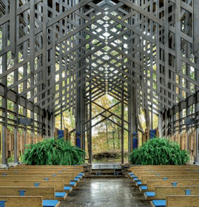 Svetoznáma Thorncrown chapel