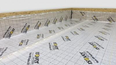 Zateplenie pochôdznej podlahy - Aplikácia parobrzdy Isover VARIO KM DUPLEX UV