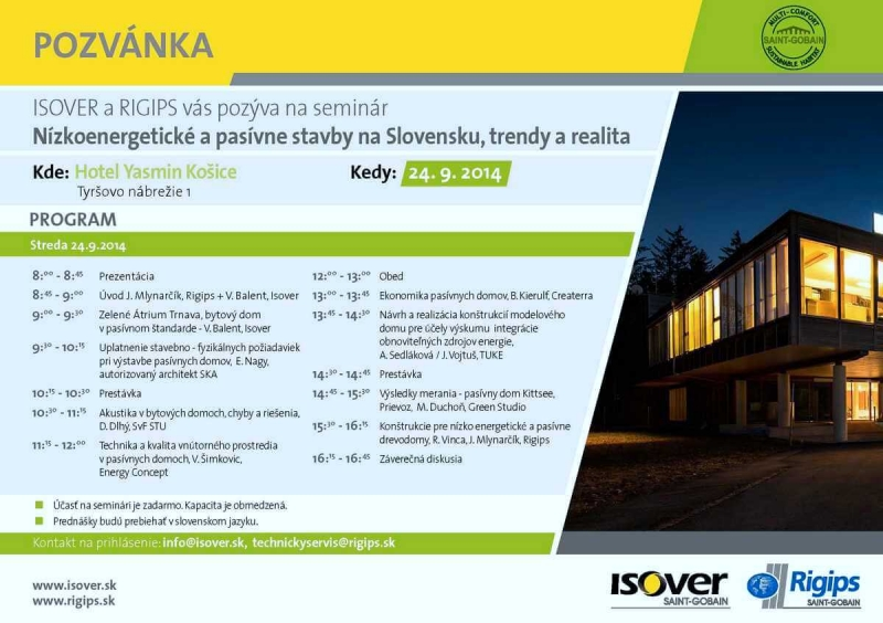 Pozvanka seminar Summer school 2014