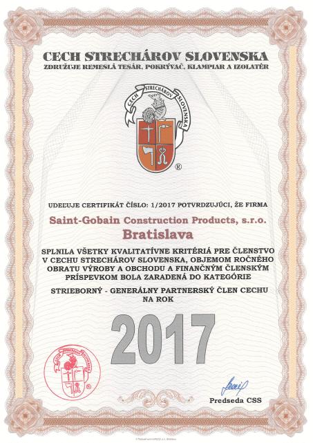 Cech strechárov certifikát