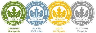 Stupne certifikacie LEED
