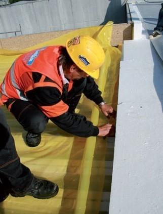 Lepenie spojov parozabrany na plochej protipoziarnej streche