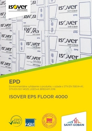 ISOVER EPS FLOOR 4000 EPD COVER