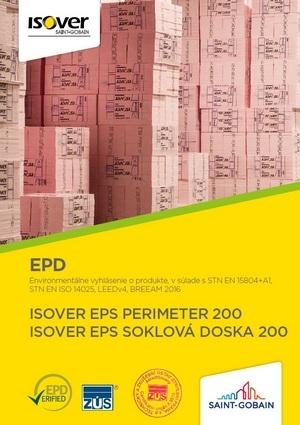 ISOVER EPS PERIMETER 200 SOKLOVÁ DOSKA 200 EPD