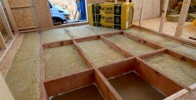 Izolacia podlahy drevostavby mineralnou vlnou