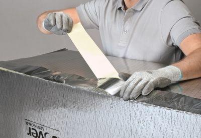Climaver montazny postup - vzduchotesne zalepenie