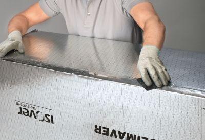Climaver montazny postup - zahladenie spoja paskou