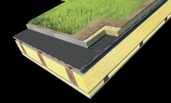 Skladba zelenej strechy s intenzívnou zelenou