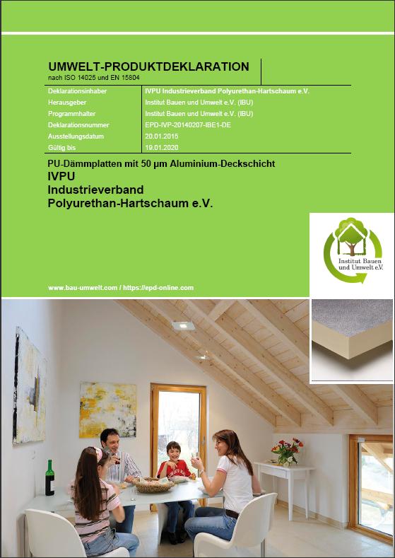 ISOVER IVPU Umweltproduktdeklartion PUAlu EPD cover
