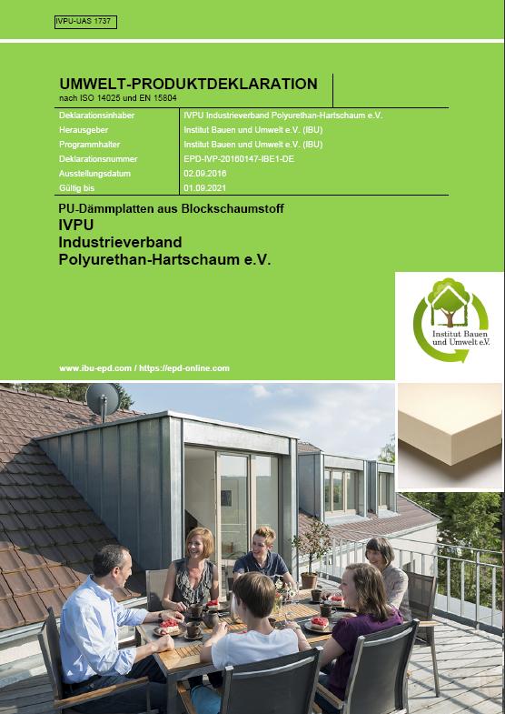 ISOVER IVPU Umweltproduktdeklaration PUBlockschaum EPD COVER