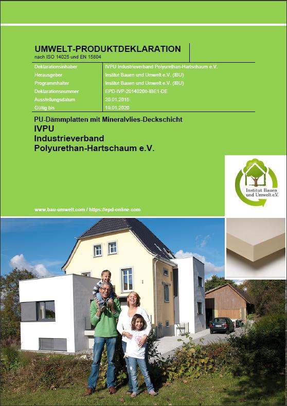 IVPU Umweltproduktdeklaration PUMineralvlies EPD cover