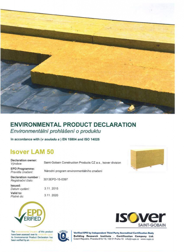 ISOVER LAM 50 EPD COVER