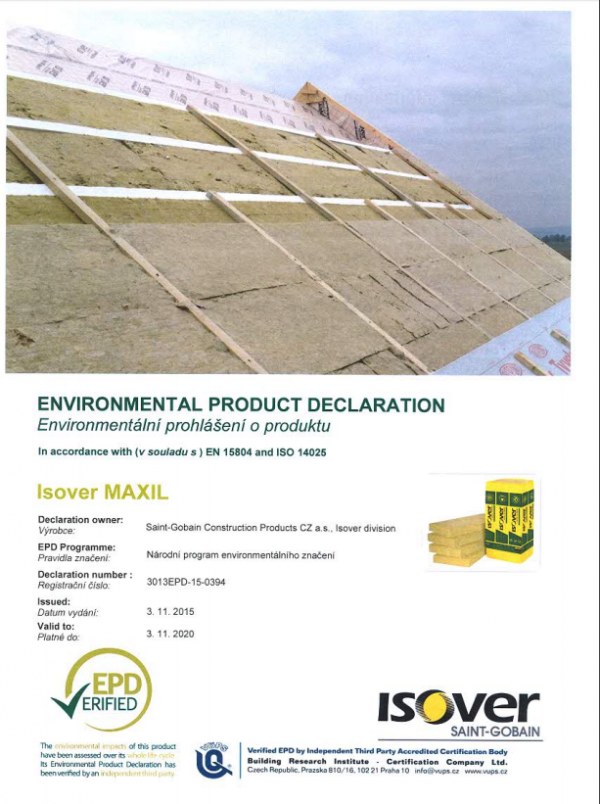 isover maxil epd cover