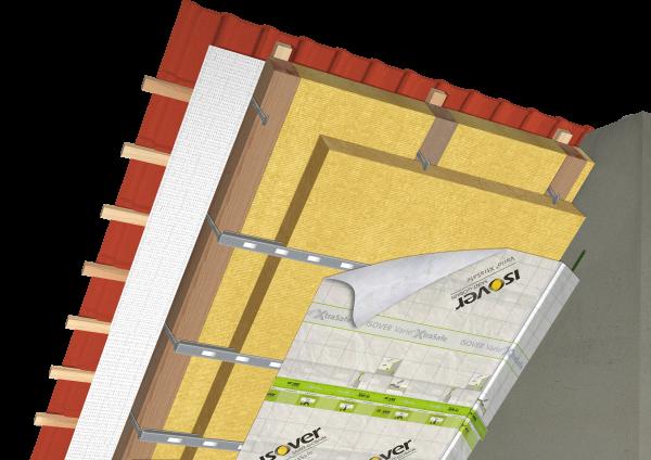 Medzikrovny a podkrovny system zateplenia sikmej strechy