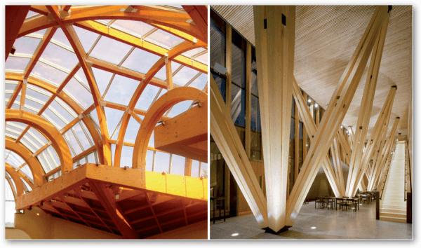 Príklady novodobej architektúry z dreva