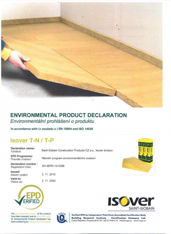 ISOVER T-N, T-P EPD COVER