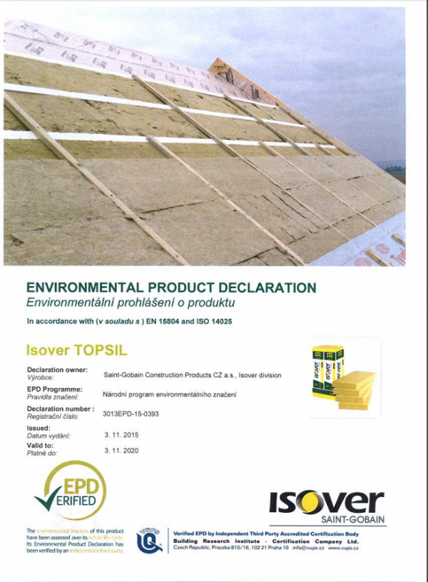 ISOVER TOPSIL EPD COVER