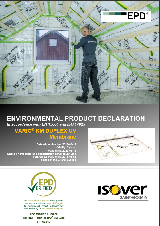 ISOVER VARIO® KM DUPLEX UV EPD COVER