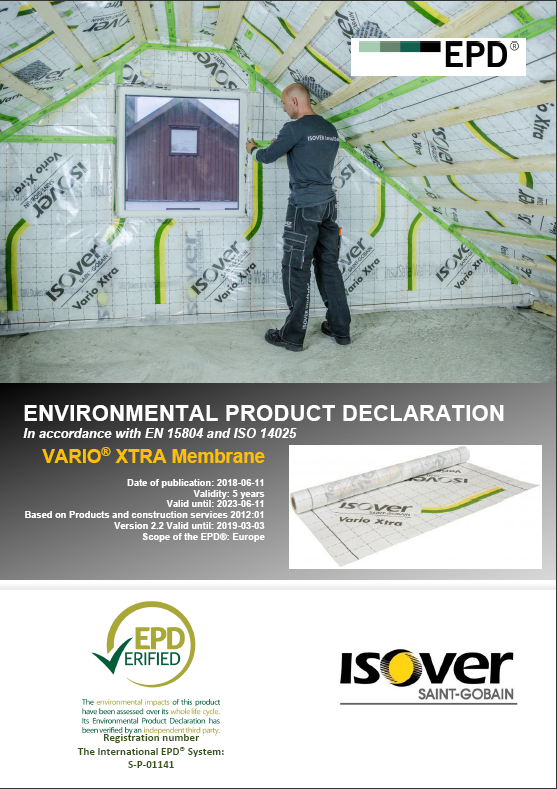ISOVER VARIO® XTRA EPD COVER