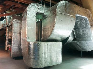 Zateplenie vzduchotechnických potrubí izoláciou ISOVER