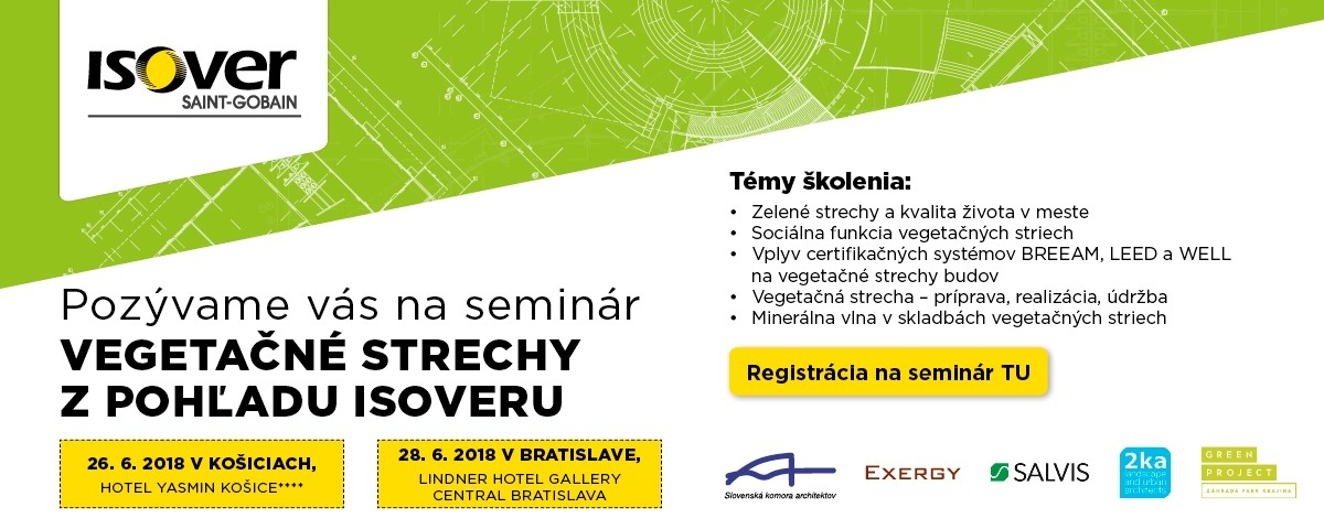 Seminar Vegetacne strechy z pohladu ISOVER