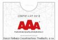 SAINT-GOBAIN získal certifikát BISNODE AAA