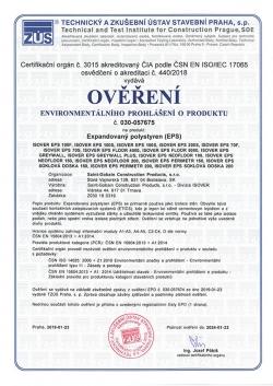 """ISOVER - prvý polystyrén s """"eko preukazom"""""""